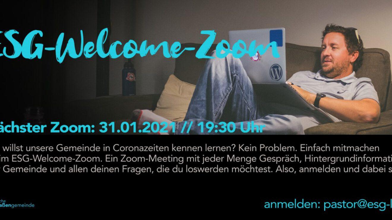 31.01.2021 Du willst unsere Gemeinde kennen lernen? ESG-Welcome-Zoom